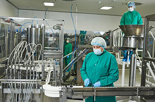 Working in a pharmaceutical line