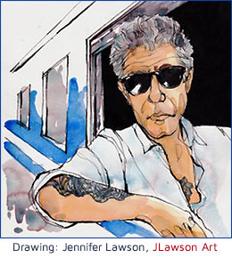Anthony Bourdain Illustration